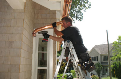 Gutter installation in East Brunswick
